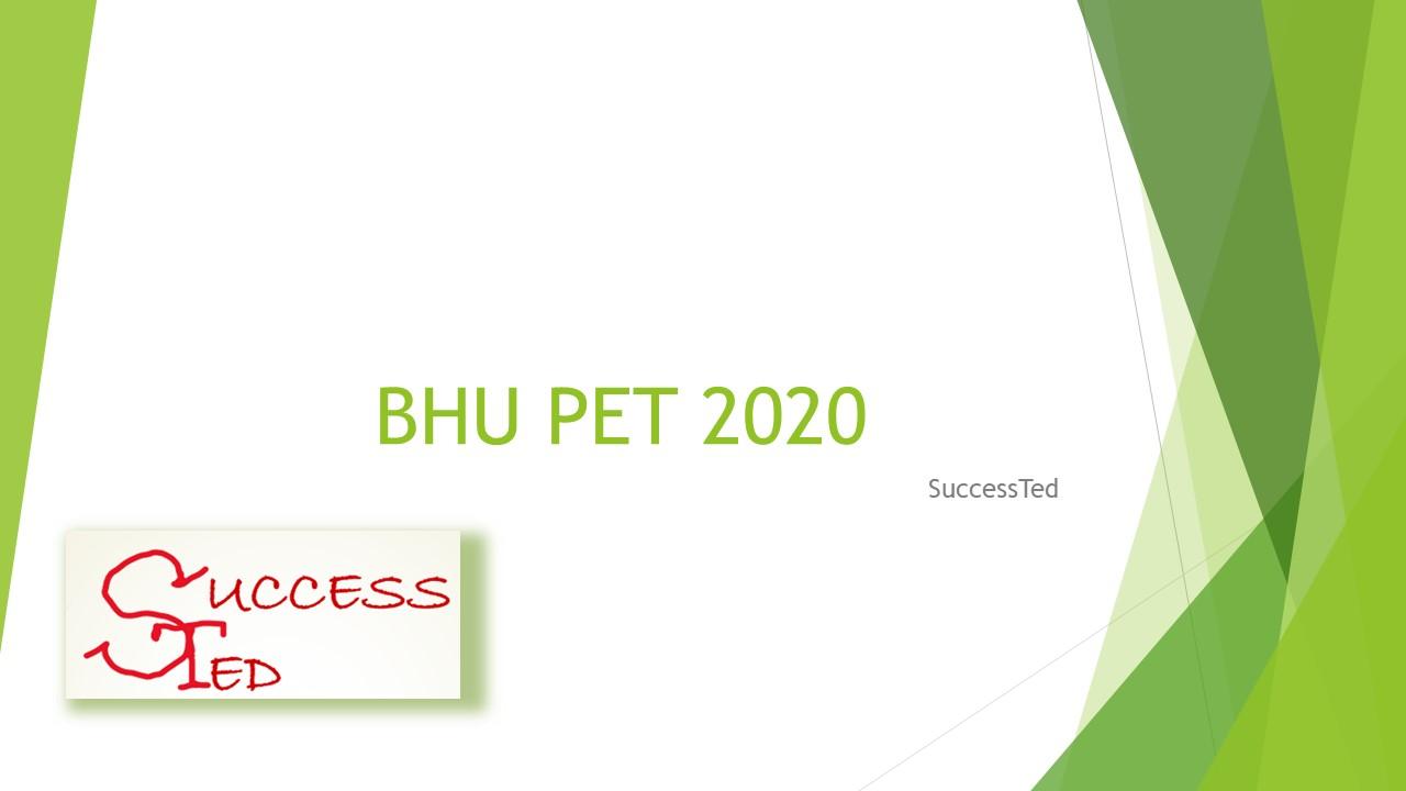 BHU PET 2020