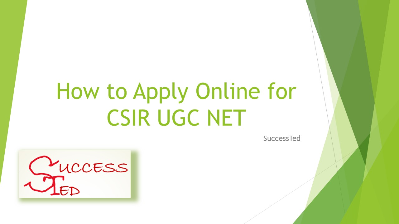 How to Apply Online for CSIR UGC NET