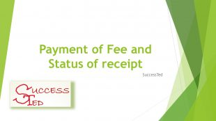 Payment of Fee and Status of receipt