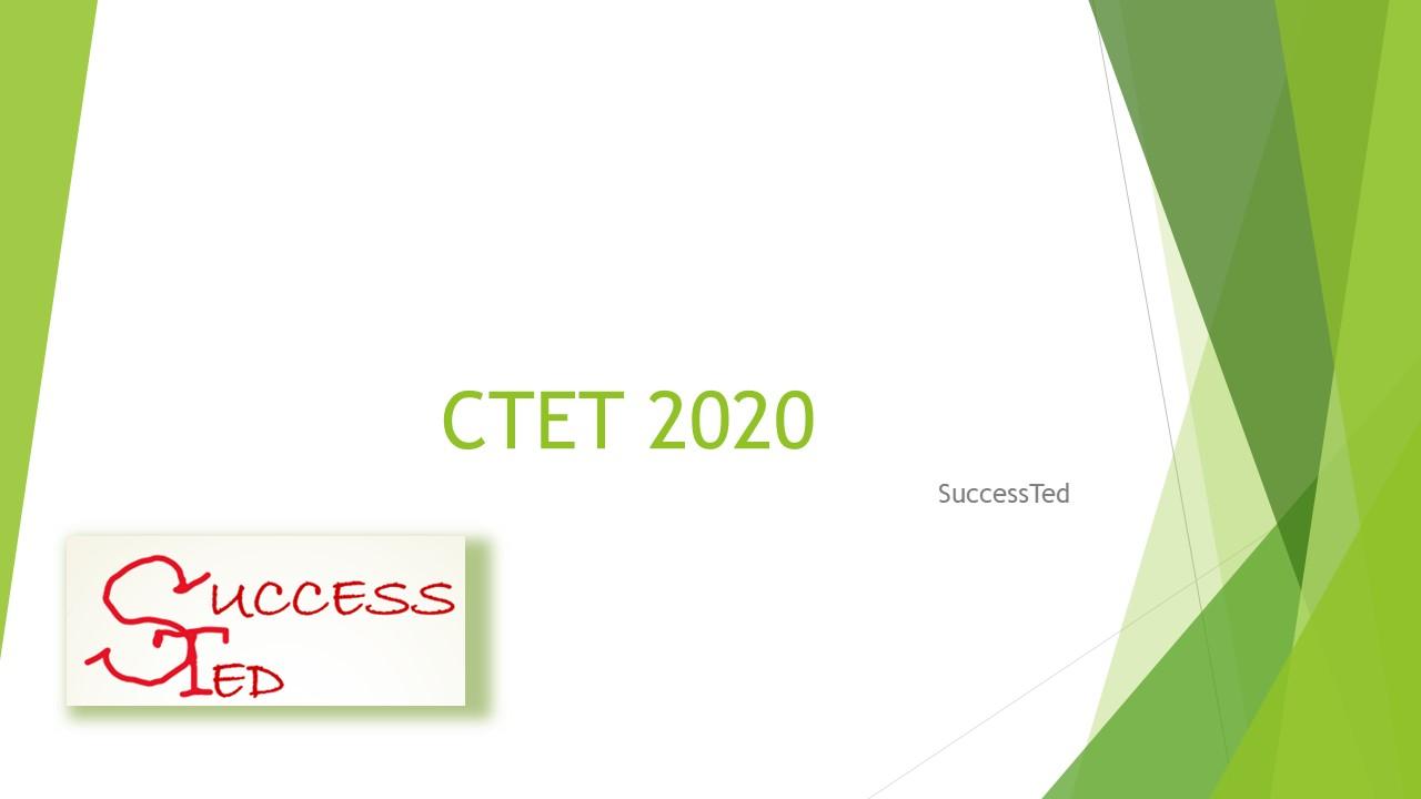 CTET 2020