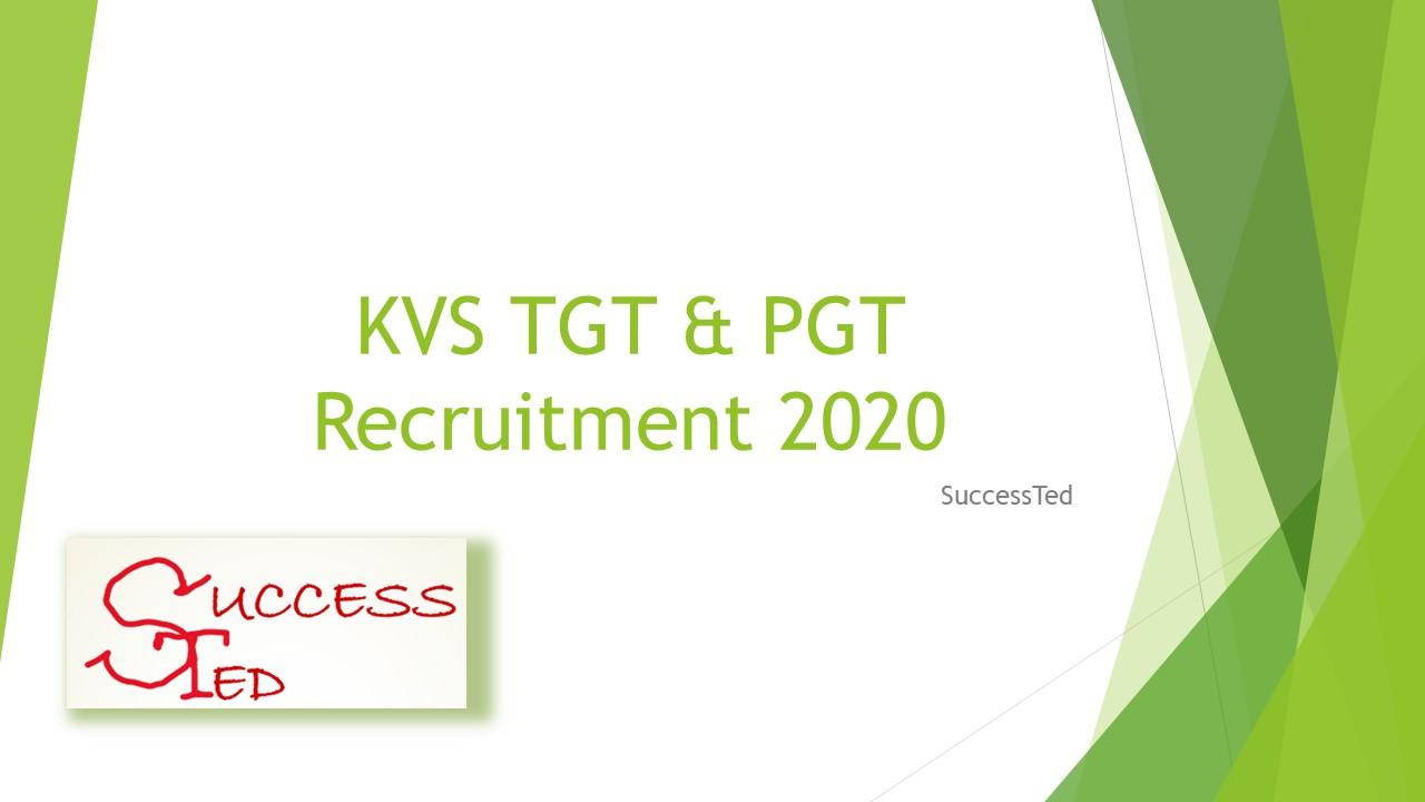KVS TGT & PGT Recruitment 2020